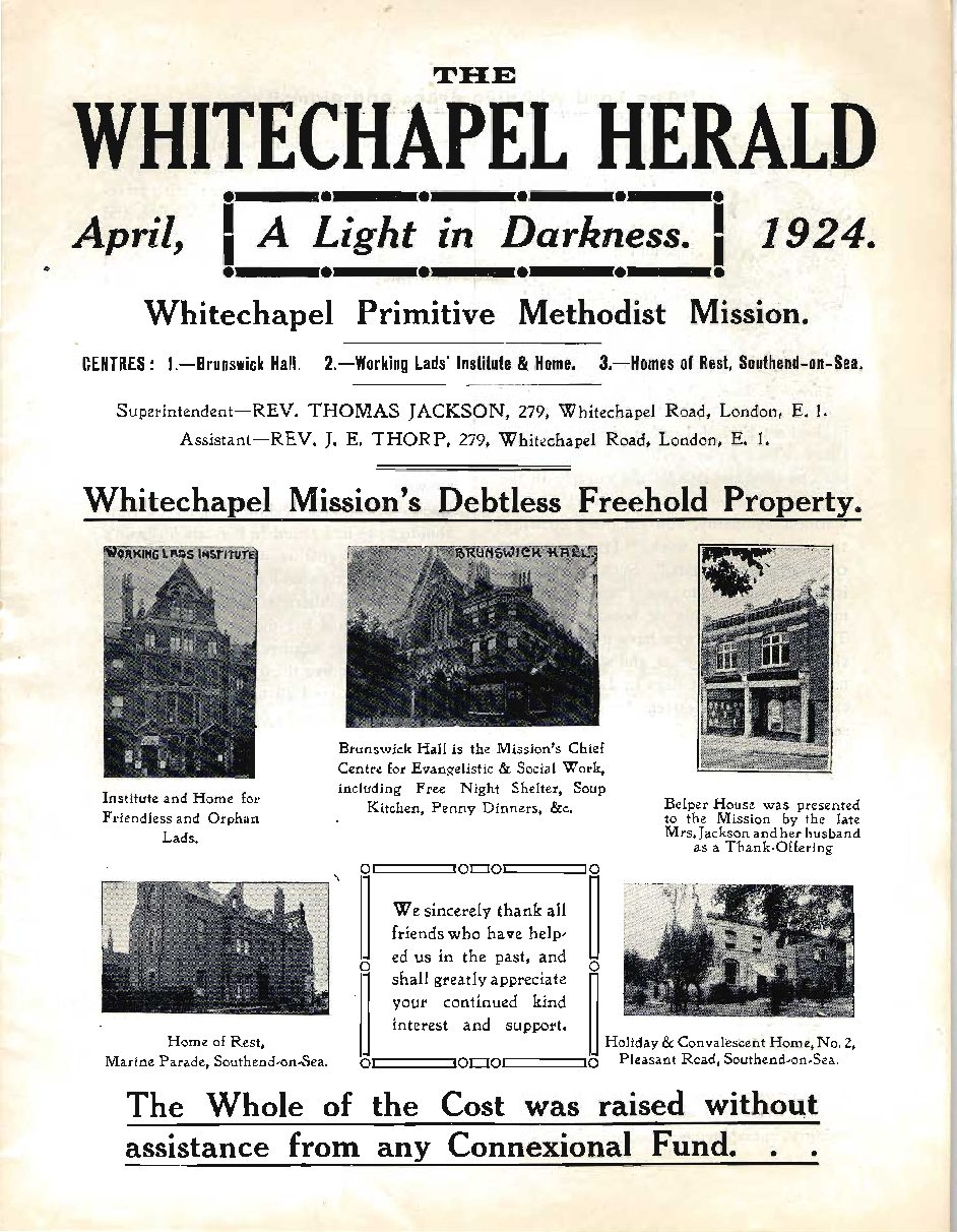 Whitechapel Mission, London
