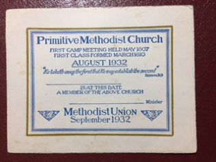 August 1932 Class Ticket. | Rev. David Leese