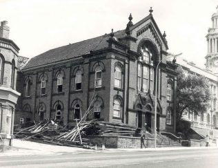 Former Ebenezer Primitive Methodist Chapel - demolition has commenced (1975) | Photographer H. Lees (not copyright)