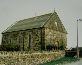 1887 Kirk Ireton Primitive Methodist Chapel as it was in 1987.  Notes with the photograph say that the Sunday School was used as the Church since 1987 | Keith Guyler 1987