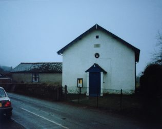 St Mary Bourne Primitive Methodist chapel with the 1839 chapel in the graveyard to the left of the 1859 chapel. | Keith Guyler 1991