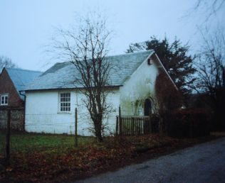 former Upton Primitive Methodist chapel in Linkenholt Road, SP11 0JP in 1991.  Keith Guyler's notes say it was used for storage | Keith Guyler 1991