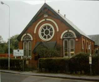 1849 Whitchurch Primitive Methodist chapel In London Street, as it was in 1990 when it was in commercial use. | Keith Guyler 1990
