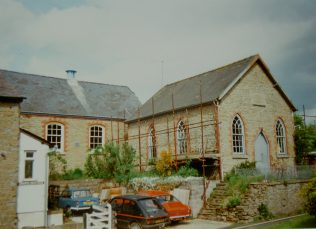 1863 Adforton Primitive Methodist Chapel as it was in 1993 when it was pending disposal. It closed in the 1980s | Keith Guyler 1993