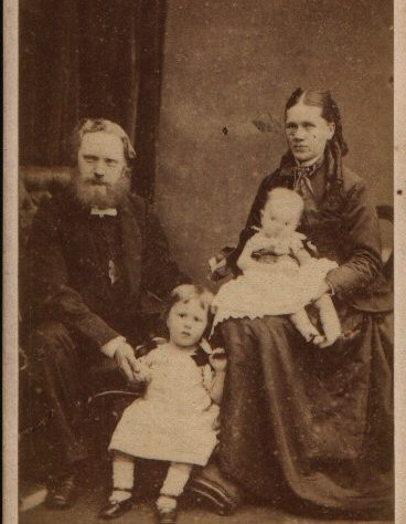 Rev. Roe, wife Elizabeth and family, St. Helier, where he was stationed 1877-1879. | R. Eager of Jersey
