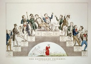 The Drunkard's Progress: A lithograph by Nathaniel Currier supporting the temperance movement, Jan 1846 | Wikimedia Commons