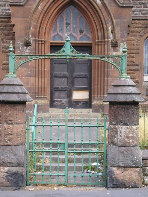 (ii) Ellenborough, Old Road PM Chapel, gateway with decorative ironwork , 20.09.2014 | G W Oxley