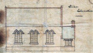 Side elevation of Chapel