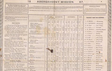 Abergavenny Mission 1867 Q4