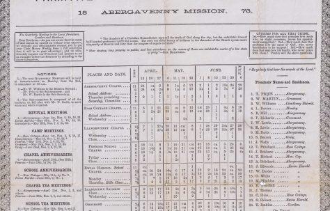 Abergavenny Mission 1873 Q2