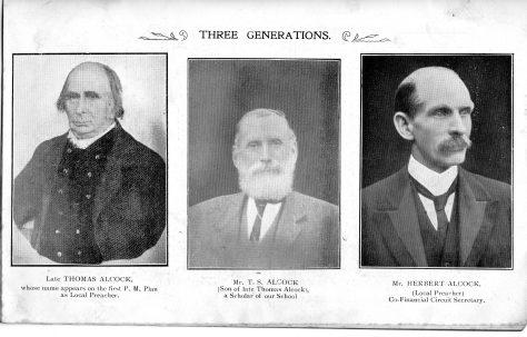 Alcock family 3 generations