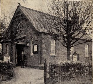 The chapel in April 1937 - in the picture is Mr W Yarrington; he had been associated with the chapel throughout its 50 years, and for a long period of time was the senior society steward | Watford Observer