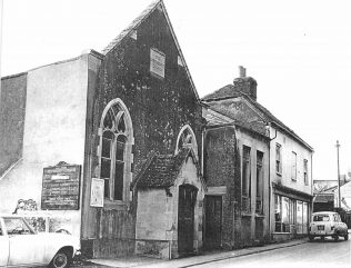 Primitive Methodist chapel in East Street, Andover, just prior to its demolition in 1967.