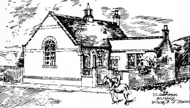 Architect's drawing for Wenlock Road PM Chapel, South Shields | Bede Circuit Archive Collections
