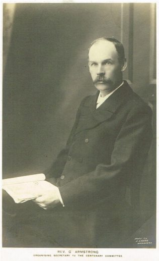 Rev G Armstrong, organising Secretary of the Centenary Committee | Englesea Brook Museum 30a/01