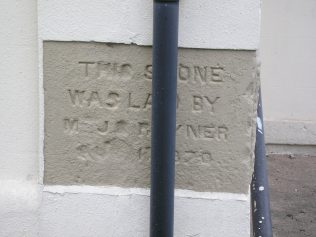 Foundation stone on chapel | G.W. Oxley - July 2016