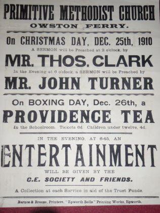 1910 Christmas poster.   Rev. David Leese