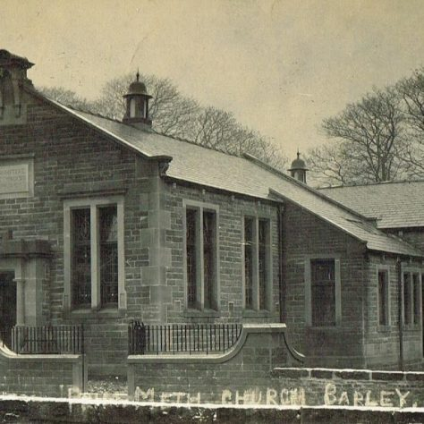 Barley Primitive Methodist chapel from a postcard c 1912, two years after it was opened. | Steven Wild