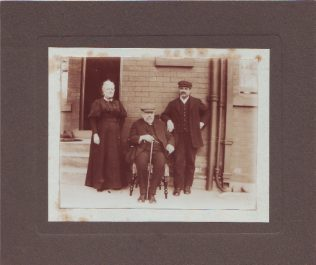 Benjamin Walmsley with his housekeeper Miss Shaw, and Tom Wilson | Walmsley Family archives