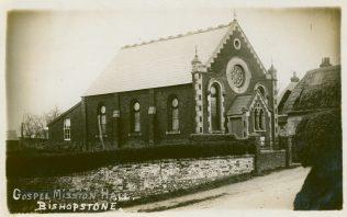 Bishopstone Primitive Methodist chapel.  The words