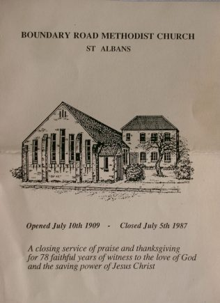 Closing Order of Service leaflet | Ross Cheffers