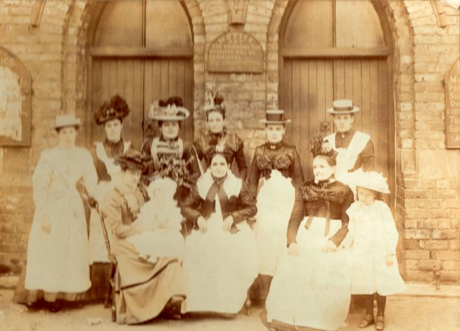 Married Ladies group pictured outside the chapel c1900 | Bede Circuit Archive Collections