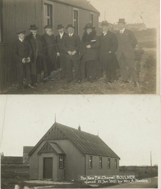 Photographs taken at the opening of the chapel.