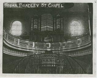 the organ at Bradley Street chapel