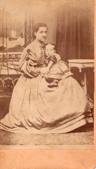 Rebecca Bristow with Edith.   Don Longacre. Descendant of   Abner