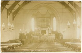 Broad Lane Primitive Methodist chapel interior in 1900