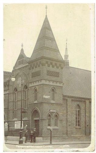 Fulham Primitive Methodist chapel, Broughton Road Approach.  Photographer - Cok 319 Fulham Road SW | Steve Wild
