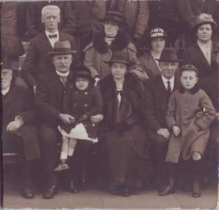 Brudenell Road Orphanage Anniversary c1918, Mary Jane Dales (nee Walmsley) with her husband and family | Walmsley Family archives