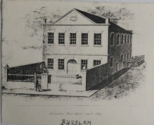 1834 Burslem Primitive Methodist chapel | Englesea Brook Museum picture and postcard collection