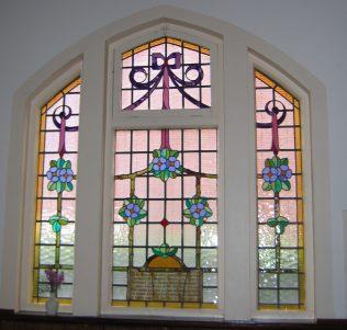 Cosby Methodist Church - window in memory of William
