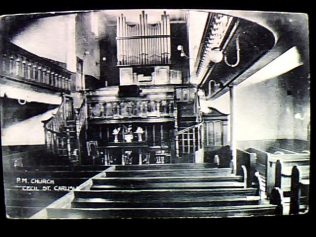 Interior view of Cecil Street Primitive Methodist Chapel | from the Hodgson Field Collection at Englesea Brook Museum