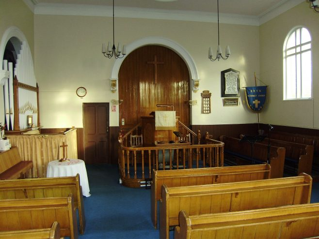 Pulpit and front of the chapel