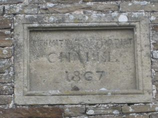 Chapel memorial stone, 8.4.13
