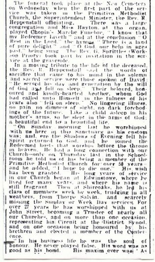 Charles Paulson funeral report | Worksop Guardian 19 Mar 1926