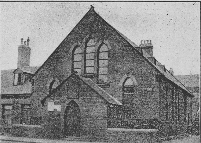 The only known picture of Charles St. PM Chapel, taken c1920 | Bede Circuit Archive Collections