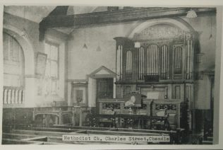 Photo 3. Cheadle Charles Street Primitive Methodist chapel interior | Englesea Brook Museum picture and postcard collection