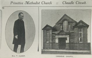 Photo 4. Rev T Clamp and Cheadle Charles Street Primitive Methodist chapel | Englesea Brook Museum picture and postcard collection
