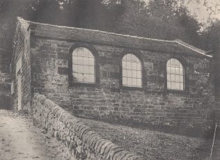 The chapel before the schoolroom was added