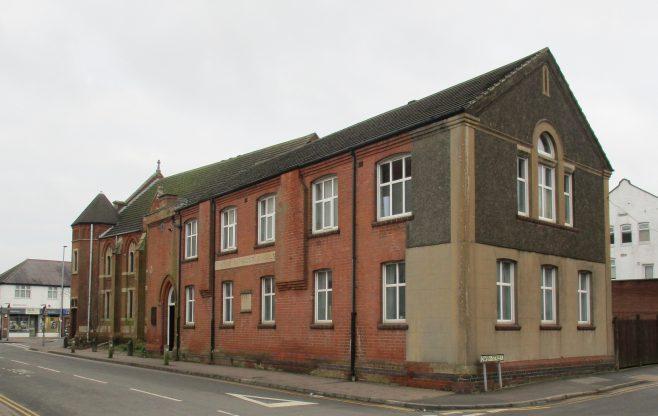 Coalville Primitive Methodist schools from Owen Street | Christopher Hill January 2018