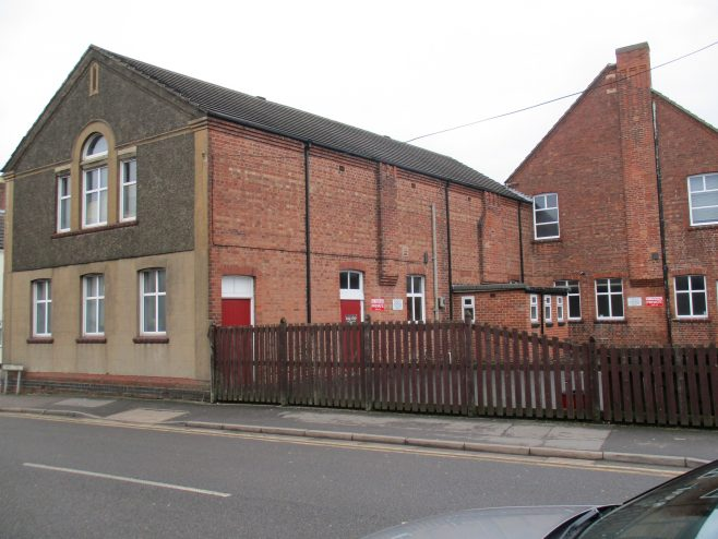 Rear of Coalville Primitive Methodist chapel and schools | Christopher Hill January 2018