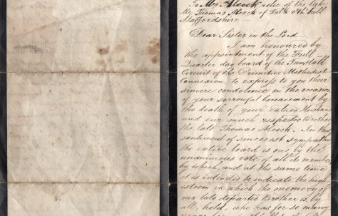 Letter of condolence on the death of Thomas Alcock to Mary his wife