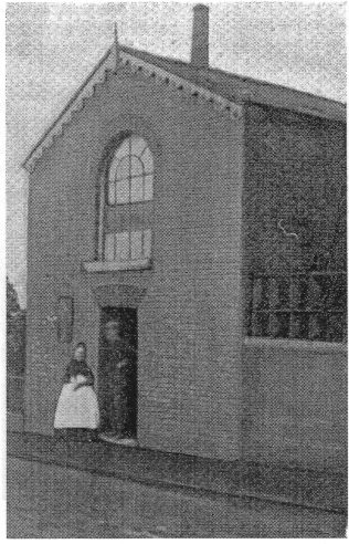 Photo No.1 Original chapel taken from HB Kendal's 'Origins and History of Primitive Methodism'.