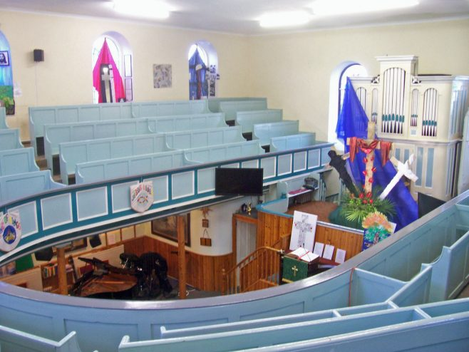 Inside St. Ives Chapel March 2013 Open Day. This is how it would have been when Henry preached there. | Robin Crossley