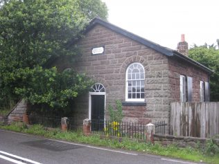 Cote Brook P M Chapel in 2015 very close to the busy A49 trunk road | Photo taken July 2015 by E & R Pearce