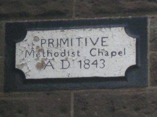 The chapel plaque of Cote Brook P M Chapel | Photo taken July 2015 by E & R Pearce