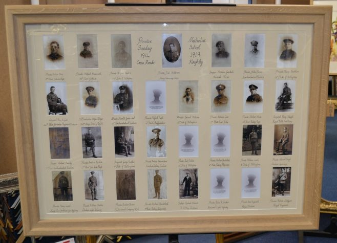 Re-created Memorial | Pictures supplied by Andy Wade, of the Men of Worth Project.